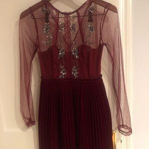 Free People Embellished Velvet Dress